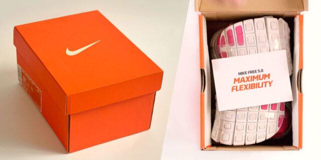 Mẫu in hộp đựng giày nike